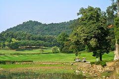Paesaggio della corte di golf Fotografia Stock Libera da Diritti
