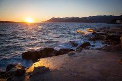 Paesaggio della costa in Dalmazia, Croazia Fotografie Stock Libere da Diritti