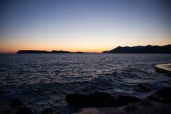 Paesaggio della costa in Dalmazia, Croazia Immagini Stock