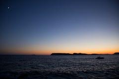 Paesaggio della costa in Dalmazia, Croazia Fotografia Stock Libera da Diritti