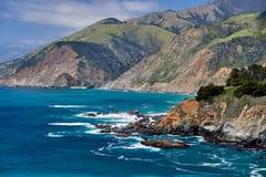 Paesaggio della costa del Pacifico in California fotografia stock libera da diritti