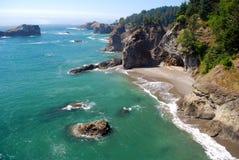 Paesaggio della costa dell'Oregon Fotografia Stock