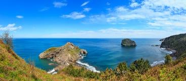 Paesaggio della costa della baia di Biscaglia, Spagna Fotografia Stock