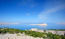 Paesaggio della costa della Croazia Immagine Stock