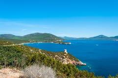 Paesaggio della costa della Sardegna Fotografie Stock Libere da Diritti