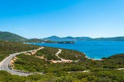 Paesaggio della costa della Sardegna Fotografia Stock Libera da Diritti