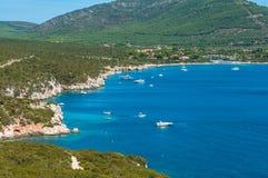 Paesaggio della costa della Sardegna Fotografie Stock