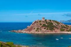 Paesaggio della costa della Sardegna Fotografia Stock