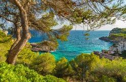 Paesaggio della costa della Spagna Maiorca del mar Mediterraneo Immagine Stock