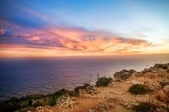 Paesaggio della costa della montagna Fotografie Stock