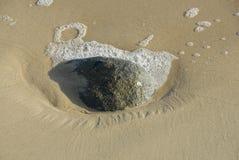 Paesaggio della costa sulla spiaggia Fotografia Stock