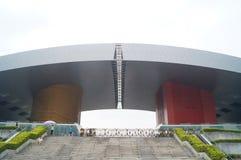 Paesaggio della costruzione del centro cittadino di Shenzhen Fotografia Stock Libera da Diritti