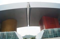 Paesaggio della costruzione del centro cittadino di Shenzhen Immagini Stock Libere da Diritti