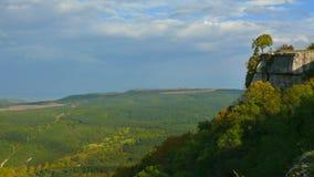 Paesaggio della Crimea della montagna di Bakhchisarai con le vigne Fotografie Stock
