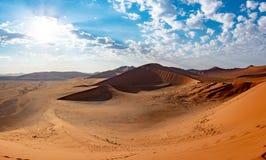 Paesaggio della duna in Namibia fotografie stock
