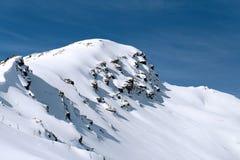 Paesaggio della foto con una montagna Cheget Fotografia Stock