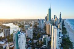 Paesaggio della Gold Coast dal grattacielo Fotografie Stock