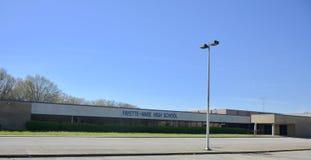 Paesaggio della High School degli Fayette-articoli, Somerville, TN fotografia stock