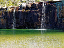 Paesaggio della laguna con le cascate Fotografie Stock Libere da Diritti