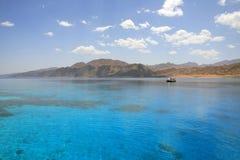 Paesaggio della laguna di Dahab. L'Egitto. Mar Rosso. Fotografia Stock Libera da Diritti