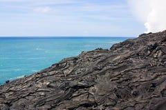 Paesaggio della lava di Pahoehoe Fotografia Stock Libera da Diritti