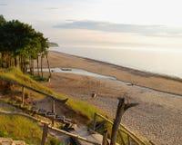 Paesaggio della Lettonia spiaggia del jurkalne Immagini Stock Libere da Diritti