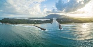 Paesaggio della linea costiera del nord del porto Fotografia Stock