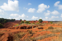 Paesaggio della miniera della bauxite Fotografia Stock