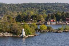 Paesaggio della molla della Svezia, distretto di Stokholm Fotografia Stock