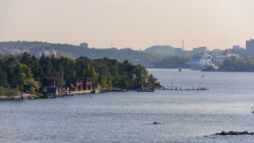 Paesaggio della molla della Svezia, distretto di Stokholm Immagini Stock Libere da Diritti
