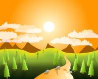 Paesaggio della montagna illustrazione vettoriale