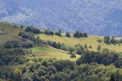 Paesaggio della montagna ad alba Fotografie Stock