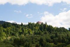 Paesaggio della montagna ad alba Fotografia Stock