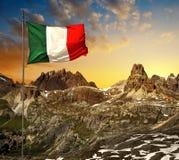 Paesaggio della montagna al tramonto Immagine Stock Libera da Diritti