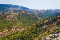 Paesaggio della montagna alla sierra Fotografia Stock Libera da Diritti