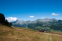 Paesaggio della montagna in alpi Fotografie Stock