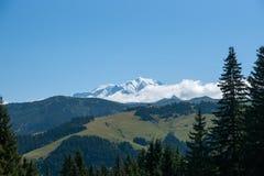 Paesaggio della montagna in alpi Immagini Stock