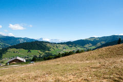 Paesaggio della montagna in alpi Fotografia Stock