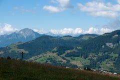 Paesaggio della montagna in alpi Fotografia Stock Libera da Diritti