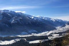 Paesaggio della montagna in alpi austriache Fotografie Stock Libere da Diritti
