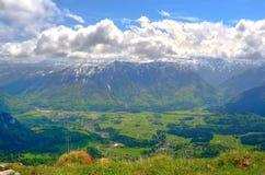 Paesaggio della montagna in alpi austriache Immagini Stock Libere da Diritti