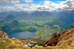 Paesaggio della montagna in alpi austriache Fotografia Stock Libera da Diritti