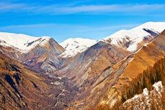 Paesaggio della montagna in alpi francesi Fotografie Stock Libere da Diritti