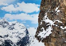 Paesaggio della montagna in alpi francesi Fotografia Stock Libera da Diritti