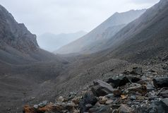 Paesaggio della montagna altai Fotografia Stock