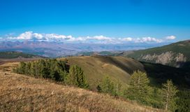 Paesaggio della montagna altai Fotografie Stock