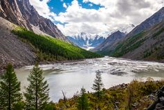 Paesaggio della montagna altai Fotografie Stock Libere da Diritti