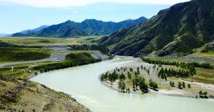 Paesaggio della montagna Altai, Siberia Immagini Stock