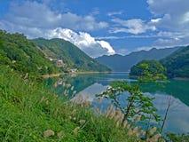 Paesaggio della montagna & del lago di Taiwan Fotografia Stock