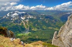 Paesaggio della montagna in Austria Immagine Stock